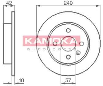 Тормозной диск 'KAMOKA 1032086'.