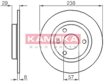 Тормозной диск 'KAMOKA 103264'.