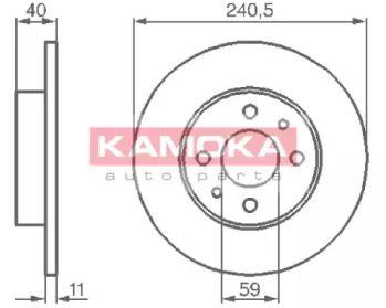 Тормозной диск 'KAMOKA 103280'.