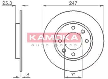 Тормозной диск 'KAMOKA 103488'.