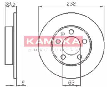 Тормозной диск 'KAMOKA 1036068'.