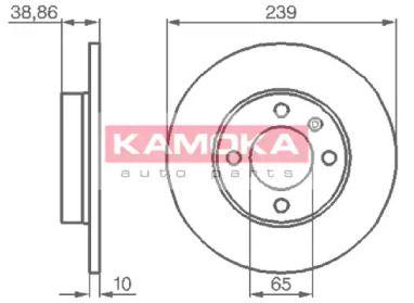 Тормозной диск 'KAMOKA 10384'.