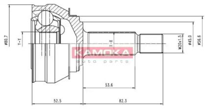Зовнішній ШРУС на SKODA FELICIA 'KAMOKA 6238'.