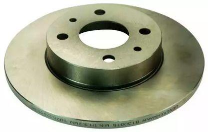 Передний тормозной диск на FIAT PANDA 'DENCKERMANN B130015'.