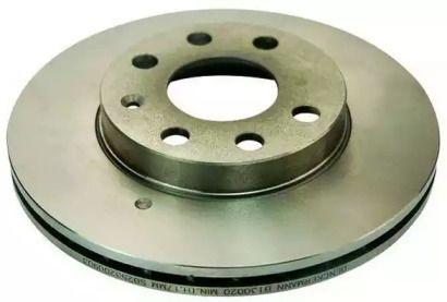 Вентилируемый передний тормозной диск 'DENCKERMANN B130020'.