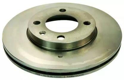 Вентилируемый передний тормозной диск 'DENCKERMANN B130021'.