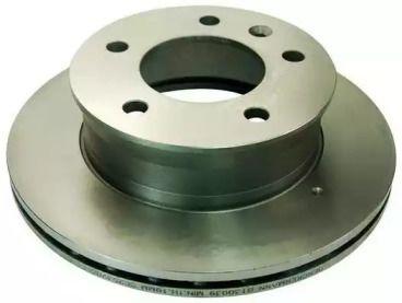 Вентилируемый передний тормозной диск на MERCEDES-BENZ SPRINTER 'DENCKERMANN B130039'.