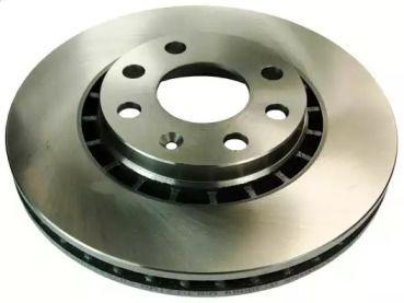 Вентилируемый передний тормозной диск на DAEWOO CIELO 'DENCKERMANN B130089'.