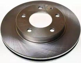 Вентилируемый передний тормозной диск на Мазда Кседос 6 'DENCKERMANN B130114'.