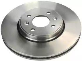 Вентилируемый передний тормозной диск на RENAULT SCENIC 'DENCKERMANN B130138'.