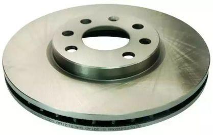 Вентилируемый передний тормозной диск на OPEL MERIVA 'DENCKERMANN B130145'.