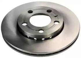 Вентилируемый передний тормозной диск 'DENCKERMANN B130160'.