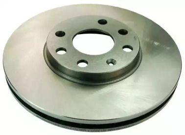 Вентилируемый передний тормозной диск 'DENCKERMANN B130217'.
