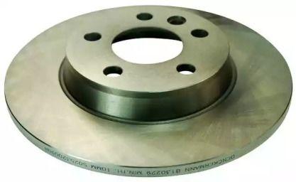 Задний тормозной диск на VOLKSWAGEN TRANSPORTER 'DENCKERMANN B130229'.