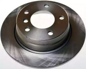 Вентилируемый задний тормозной диск на BMW 3 'DENCKERMANN B130256'.