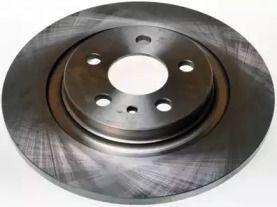 Вентилируемый задний тормозной диск на Ситроен С8 'DENCKERMANN B130276'.