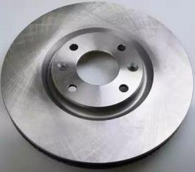Передний тормозной диск на PEUGEOT 308 'DENCKERMANN B130282'.