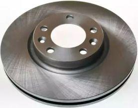 Передний тормозной диск на Пежо 407 'DENCKERMANN B130372'.