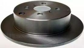 Задний тормозной диск на TOYOTA PRIUS 'DENCKERMANN B130389'.