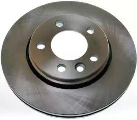Задний тормозной диск на VOLKSWAGEN MULTIVAN 'DENCKERMANN B130402'.