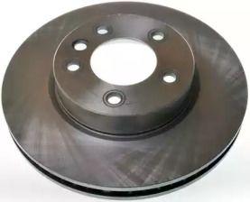 Передний тормозной диск на Порше Кайен 'DENCKERMANN B130458'.