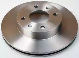 Передний тормозной диск 'DENCKERMANN B130522'.