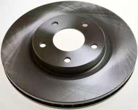 Передний тормозной диск на NISSAN X-TRAIL 'DENCKERMANN B130584'.