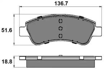 Переднї гальмівні колодки NATIONAL NP2012.