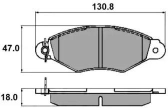 Переднї гальмівні колодки NATIONAL NP2207.