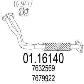 Приймальна труба глушника на Lancia Delta  MTS 01.16140.