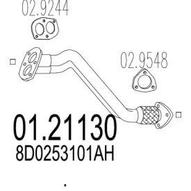 Приемная труба глушителя на Фольксваген Пассат MTS 01.21130.