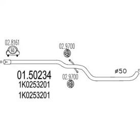 Резонатор на SEAT LEON MTS 01.50234.