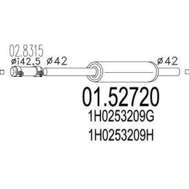 Резонатор на Фольксваген Гольф 'MTS 01.52720'.