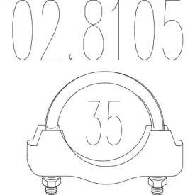 Хомут глушителя 'MTS 02.8105'.