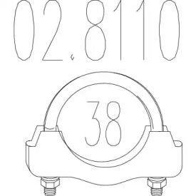 Хомут глушника MTS 02.8110.
