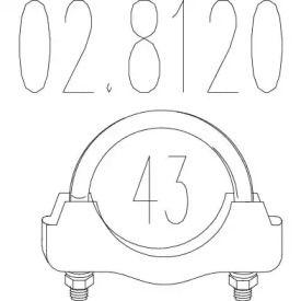 Хомут глушителя на Фольксваген Гольф 'MTS 02.8120'.