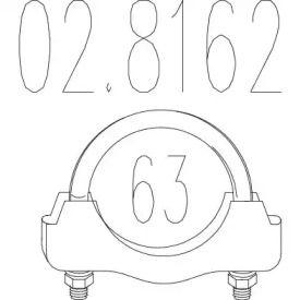 Хомут глушника MTS 02.8162.