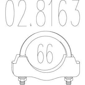 Хомут глушителя на VOLKSWAGEN PASSAT 'MTS 02.8163'.