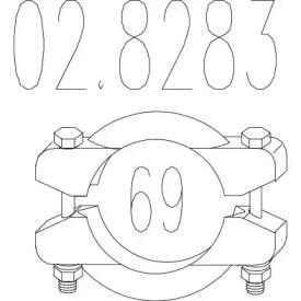 Хомут глушника MTS 02.8283.