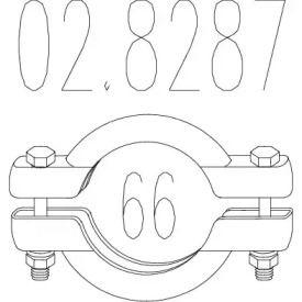 Хомут глушника MTS 02.8287.