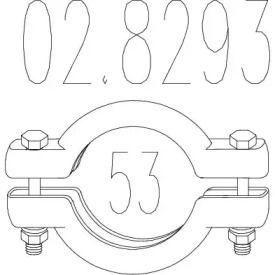 Хомут глушника MTS 02.8293.