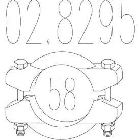 Хомут глушника MTS 02.8295.