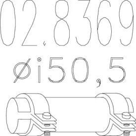 Хомут глушника MTS 02.8369.