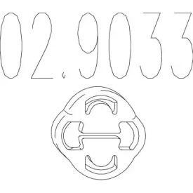 Кронштейн глушителя на VOLKSWAGEN GOLF 'MTS 02.9033'.