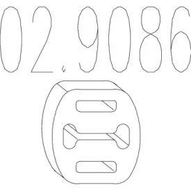 Кронштейн глушителя на FIAT COUPE MTS 02.9086.