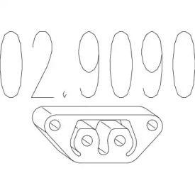 Кронштейн глушителя на Фиат Купэ MTS 02.9090.