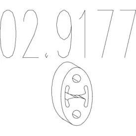 Кронштейн глушителя на Фиат Купэ MTS 02.9177.