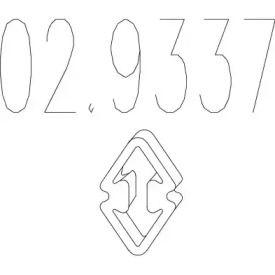 Кронштейн глушника 'MTS 02.9337'.