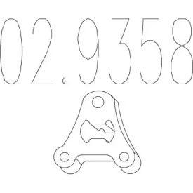 Кронштейн глушника MTS 02.9358.