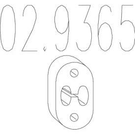 Кронштейн глушника на MITSUBISHI CARISMA MTS 02.9365.